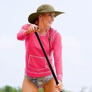 Athleta Summed Shade Long Sleeve Pink tee